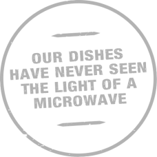 Our dishes have never seen the light of a microwave