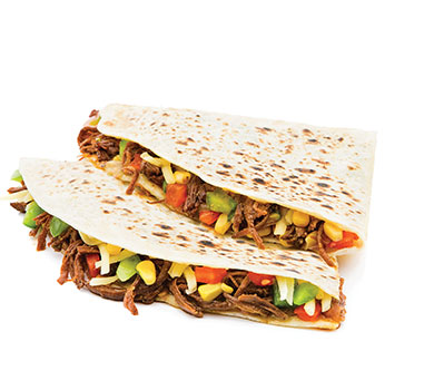 Les quesadillas M4 Burritos